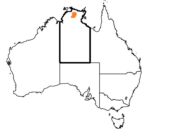 Distribution Map Black Wallaroo